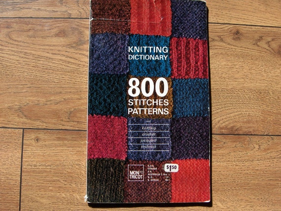 Knitting Pattern Dictionary : Vintage Mon Tricot KNITTING DICTIONARY 800 by GransTreasures