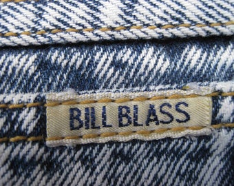 size 10 BILL BLASS STONEWASHED high waist 1980's jeans