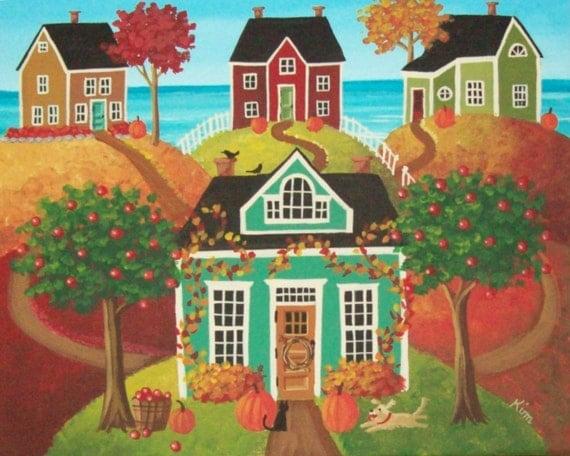 Hickory Hills Folk Art Print