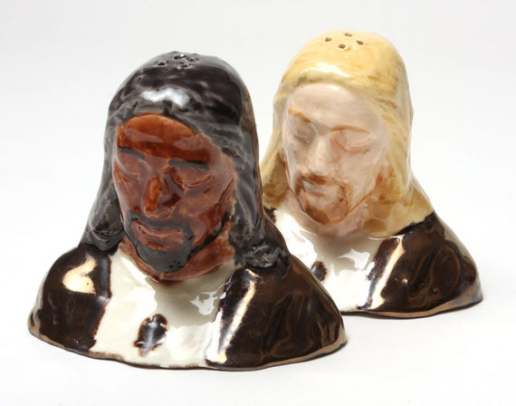 Jesus Christ Multiracial Salt and Pepper Shakers - Praise the Lord