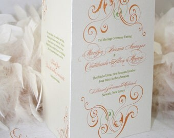Beautiful Swirls Wedding Program