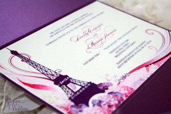 Gorgeous Wedding Invitations: Gorgeous Paris Wedding Invitations