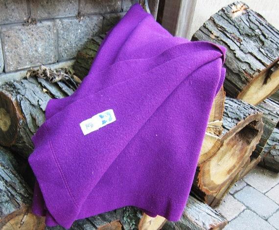 Purple vintage wool blanket from Canada