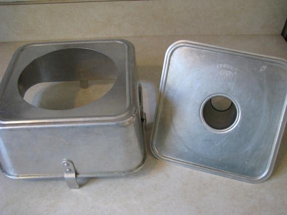 Vintage Comet Aluminum Square Bundt Cake Pan Angel Food Tube