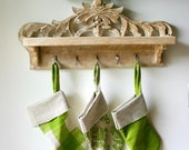 Apple Green French Christmas Stockings - photography print