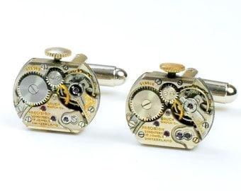 Steampunk Antique Gruen Watch Movement Cuff Links