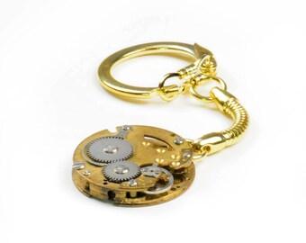 Steampunk Vintage Brass Watch Key Chain