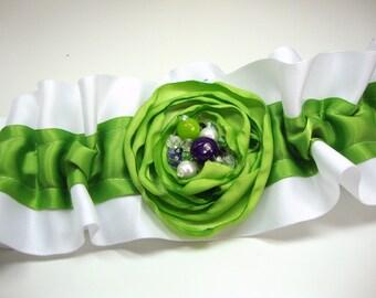 Satin with Flower Wedding Garter