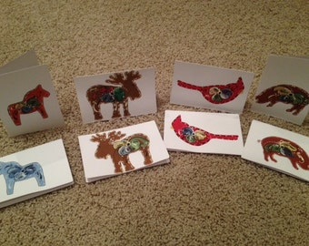 Hand Painted Norwegian Note Cards