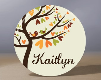 Bridesmaid Gift | Personalize Pocket Mirror | Maid of Honor Gift | Bridal Shower Favor | Wedding Party Gift | Autumn Wedding | Fall Wedding