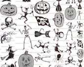 Halloween Sepia Decals for Image Transfer Onto Glass 50Halloween