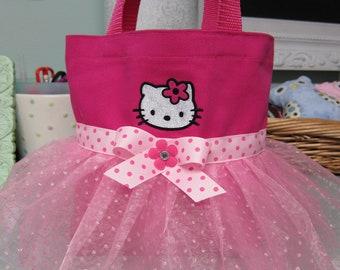 Cute Kitty Mini Tutu Tote Bag