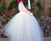 Tutu Dress, Flower Girl Dress, Pink Tulle, Tutu, Tutus, Portrait Dress, Weddings, Flowergirl Dresses, Hot Pink Fabric Flower, Bridal