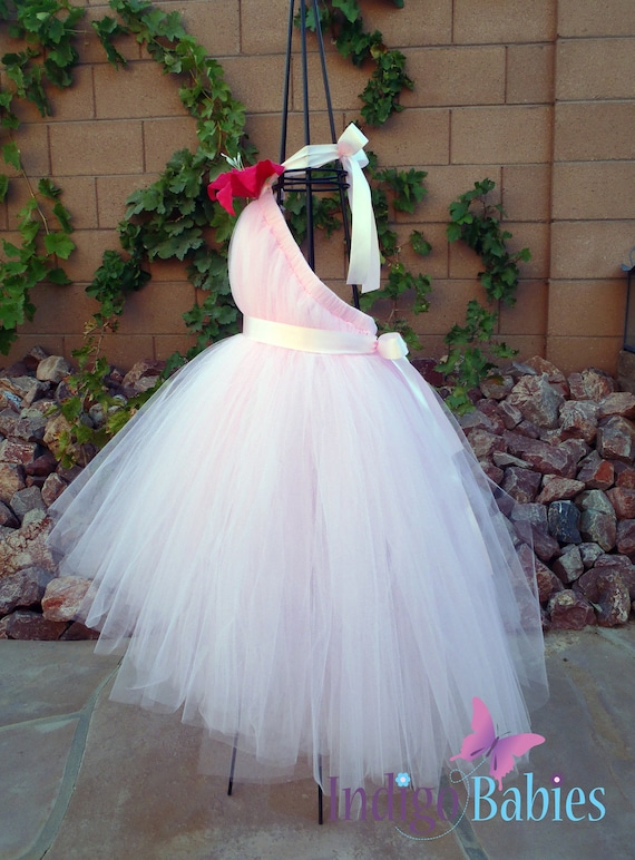 Items similar to Tutu Dress, Flower Girl Dress, Pink Tulle ...