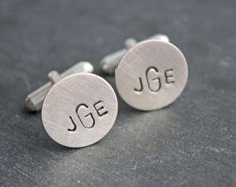 Personalized Cufflinks - Monogram Cuff Links - Personalized for Dad Grandfather Groom or Groomsmen - Initial Cufflinks - Custom Cufflinks
