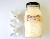 Unscented Laundry Soap / Eco Friendly Home / in a Farmhouse Mason Jar
