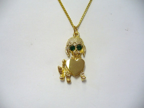 Vintage Poodle Necklace DEADSTOCK