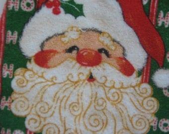 Vintage Christmas Baby Bib Santa
