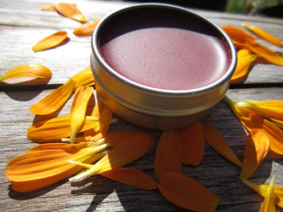 Tinted Lip Balm- Peppermint and Calendula- Herbal Lip Balm