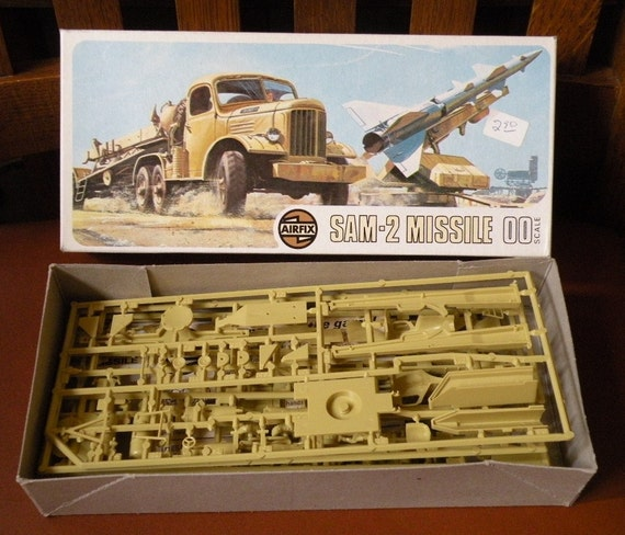 1973 Airfix Model Kit Sam 2 Guideline Missle made in England in Original box
