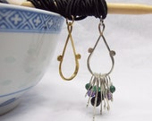 Stitch marker keeper pendant necklace -  for both ring and split markers