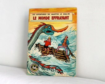 Réservé,  60s French children book - Martin le malin LE MONDE EFFRAYANT