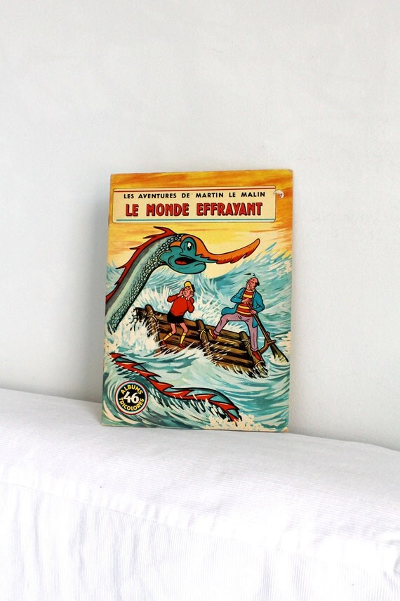 Réservé,  60s French children book - Martin le malin LE MONDE EFFRAYANT