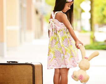 Girls Dress Pattern PDF Sewing Pattern, Knot Dress, Toddler, Baby, Girl...The Olivia Reverse Knot Dress