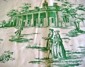 """Brunschwig & Fils """"Mount Vernon"""" Screen Print Cotton Fabric OOP"""
