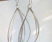 Silver Tear Drop Earrings Large