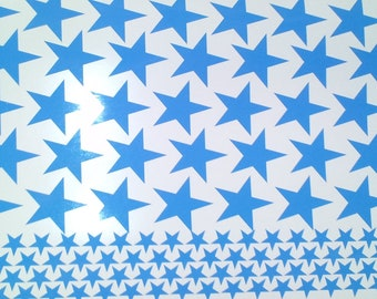 50 Stars Vinyl Stickers Decals Stars Choose Your Color