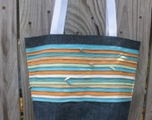Tote with Decorative Zippers--Pastel Version