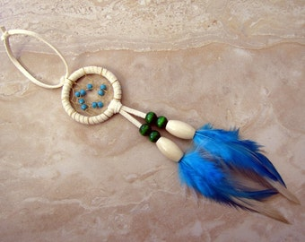 Dream Catcher - Small Colorful Car Dream Catcher - Turquoise Dreams