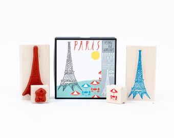 Yellow Owl Workshop Paris Rubber Stamp Kit