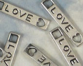 100 LOVE Charms Connector Links Dangles Heart Silver - Scrapbooking, Wedding Invitations (P090  -100)