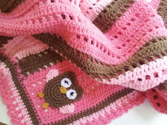 PATTERN - Crochet Baby Owl Blanket