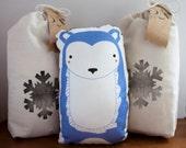 Blue Bear Pillow MADE TO ORDER Nursery Decor, Home Decor