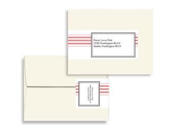 Printable Editable Envelope Wrap in Vintage Towel