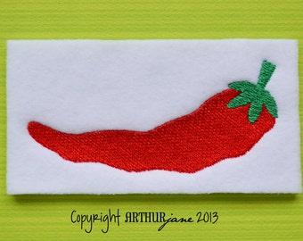 Chili Pepper, INSTANT DOWNLOAD, Embroidery Design for Machine Embroidery 4x4