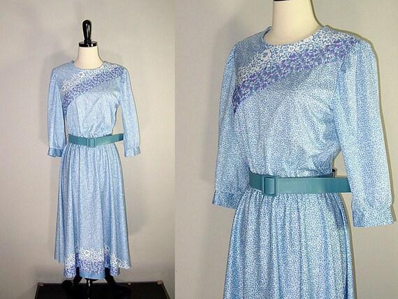 Vintage 70s Lilac Belted Dress (m-l)