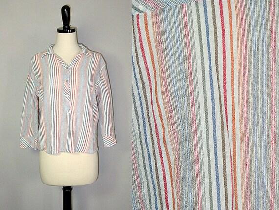 Vintage 70's Striped Blouse (s-m)