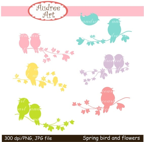 clipart flowers and birds - photo #38