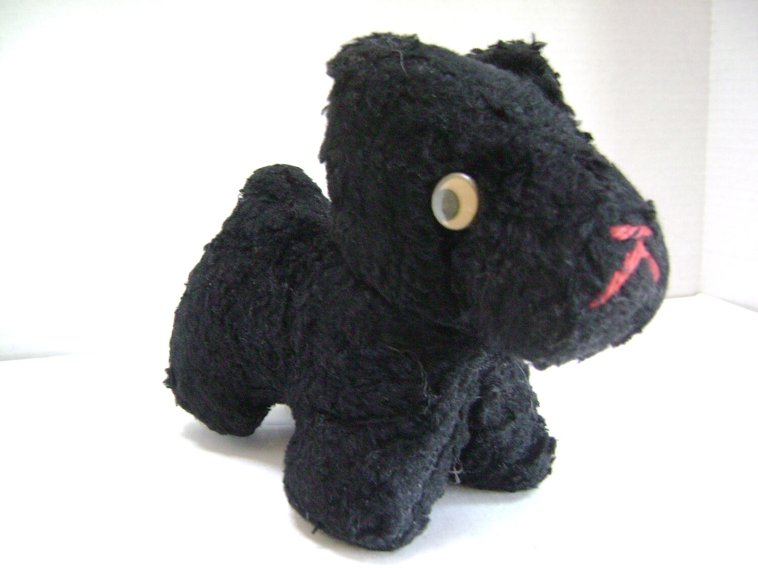 Vintage Scottie Dog Plush stuffed toy Googly Eyes by ...