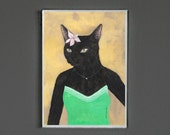Art Print - Black Cat - Signed by Artist - 8x10 // 16x20 // 22x28