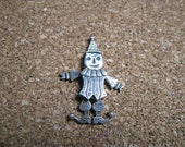 clown pendant jointed wiggly sterling silver
