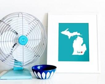 Ann Arbor is My Home // 8x10 Digital Michigan Print