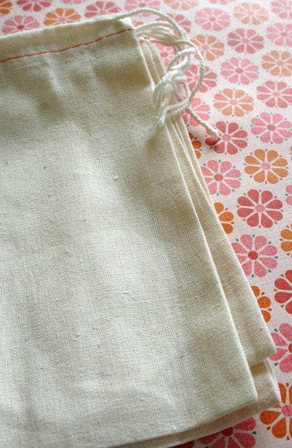 BLANK Cotton Cloth Drawstring Bags - 12 x 16 Inches - for Stamping - Wedding Favors, Gift Bags, Packaging - set of 25
