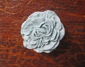 Drawer Knobs Peony Flower in Light Grey, more COLORS available (RFK02)