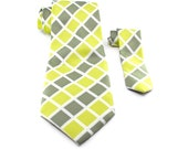 Father and Son Silk Necktie Set - Green Necktie Set - Royston - Matching Tie Set
