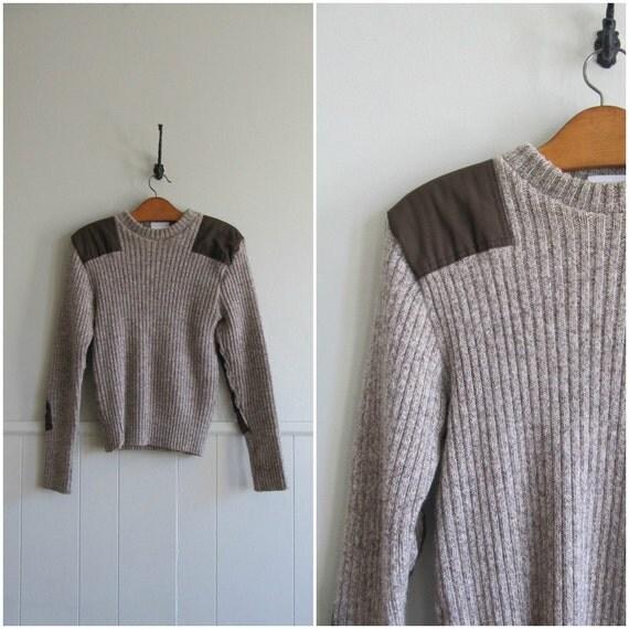 1970s vintage british army wool sweater